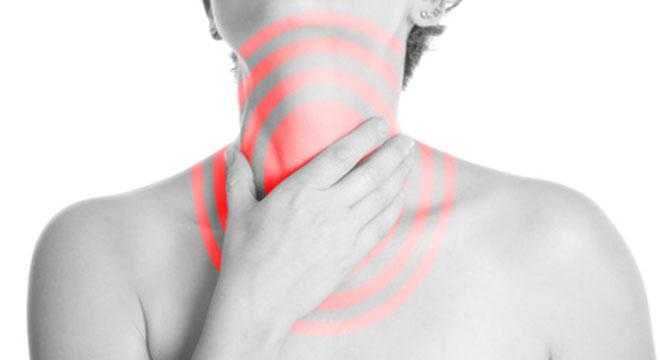 Ständiges abtasten der lymphknoten