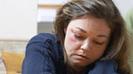Frau müde depressiv