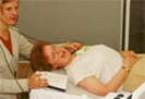 Untersuchung der Halsschlagader