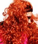 Haare lang rot kraus