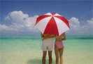 Ferien Meer Sonnenschirm